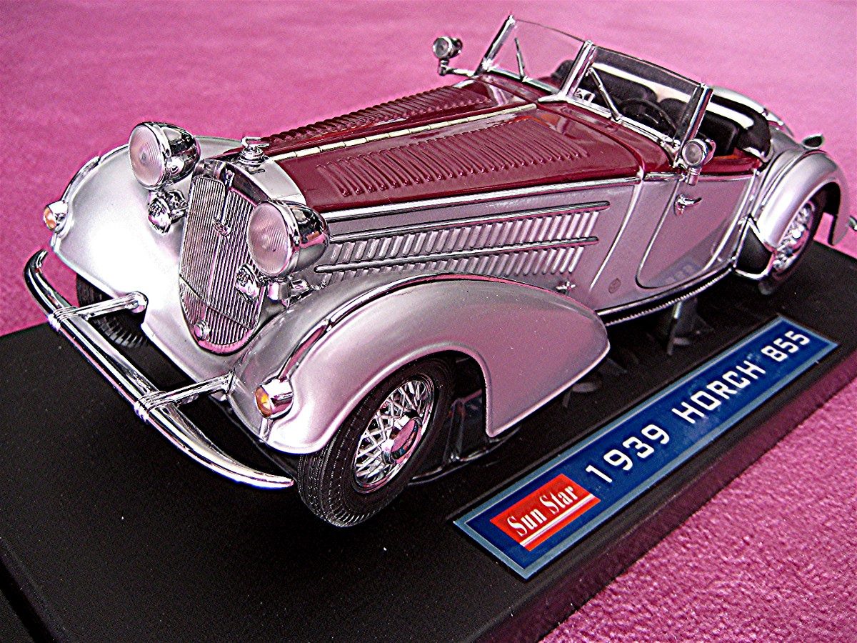 Horch 855 Roadster silber-bordeaux 1939