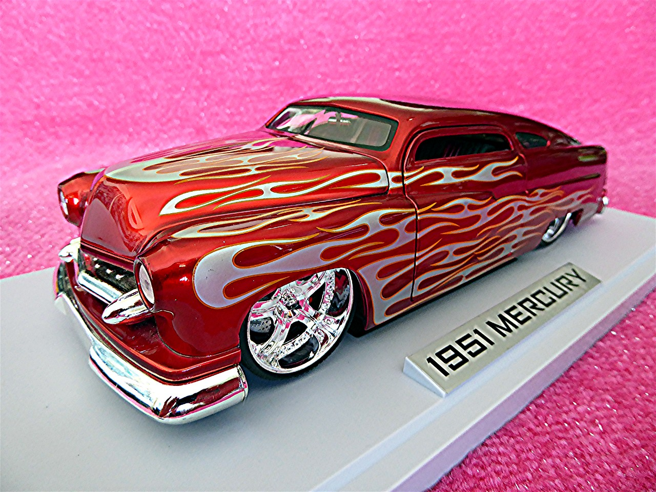 1:18 Mercury Dub City Flame rot-silber 1951