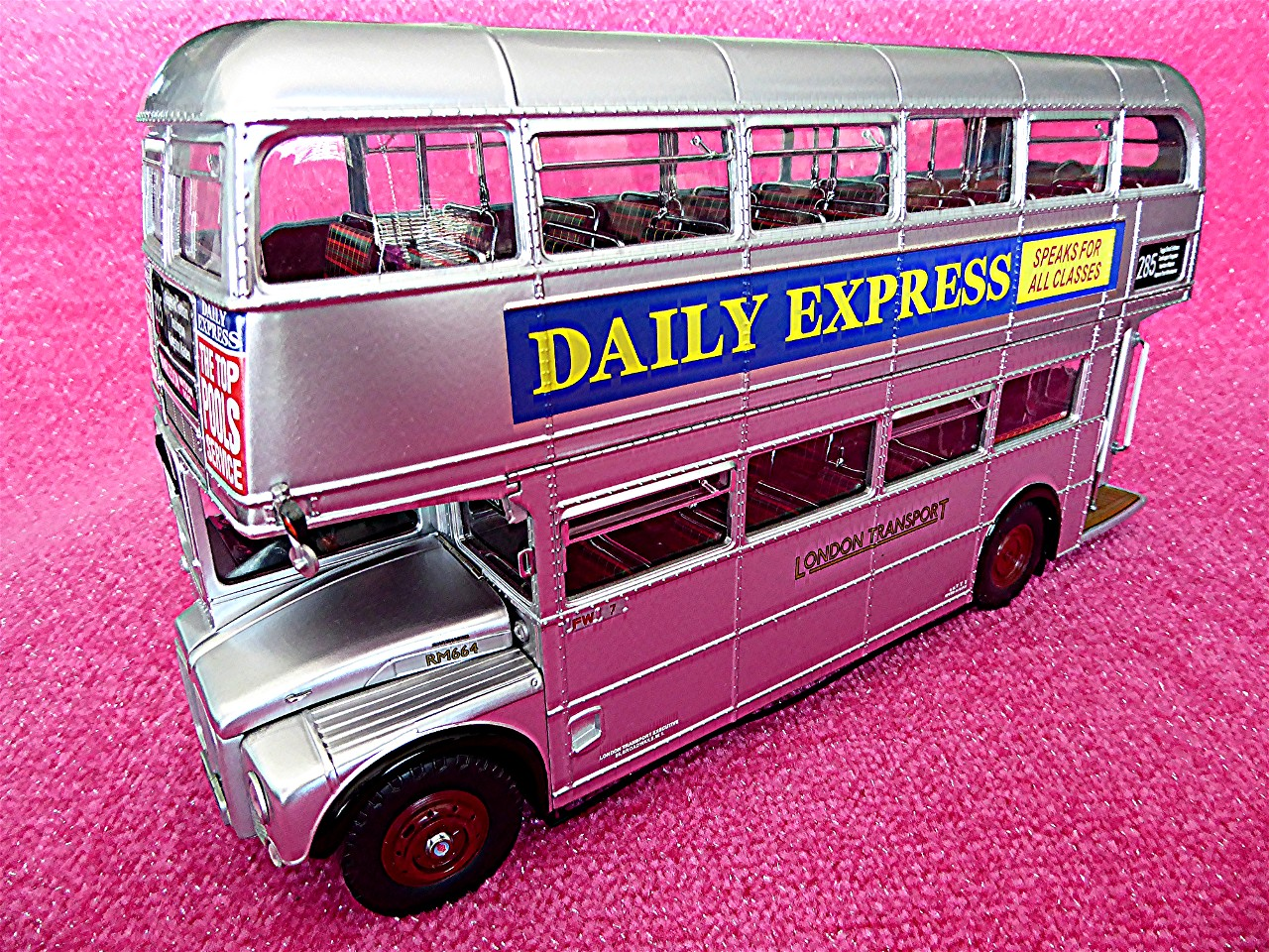London Bus Silver Lady 1994 silber 1:24
